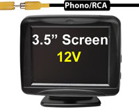 """(MON4) 3.5"""" Discreet Stand On Dash Monitor For Cars - Upto 2 Camera Inputs"""