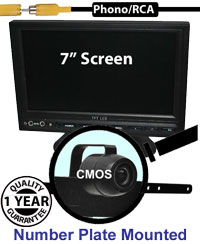 "SYS202 - 7"" Stand On-Dash Monitor + License Plate Reversing Camera"