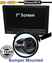 "SYS203 - 7"" Stand On-Dash Monitor + Bumper Reversing Camera"
