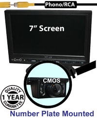 "SYS205 - 7"" Stand On-Dash Monitor + License Plate wedge Reversing Camera"