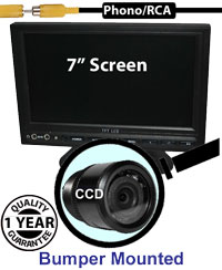 "SYS209B - 7"" Stand On-Dash Monitor + 1/4"" Sony CCD Bumper Reversing Camera"