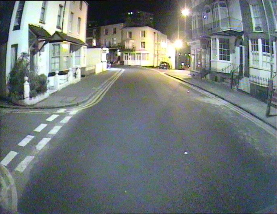 DVR footage from camera night w/street lights