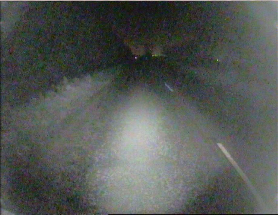 DVR footage from camera night no street lights