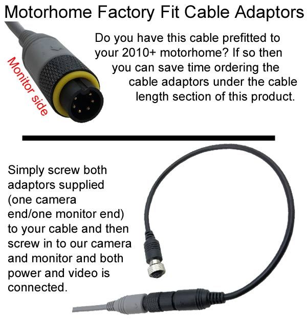 Waeco cable adaptors single premium reversing camera kits highest spec waeco reversing camera wiring diagram at mifinder.co
