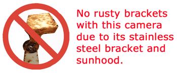 stainless steel bracket for reversing camera
