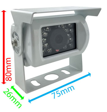 white reversing camera dimensions