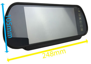 Parking Mirror Monitor Dimensions