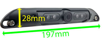 numberplate reversing camera dimensions