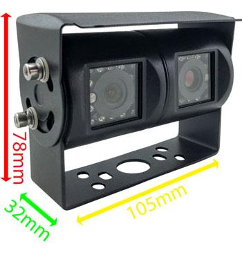 Twin Lens Reversing Rear View Camera Dimensions