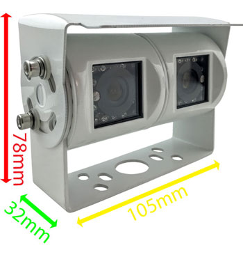 twin lens reversing rear view camera dimensions