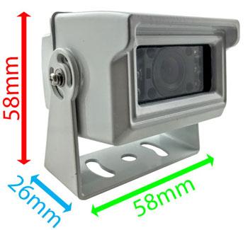 compact reversing camera dimensions