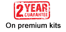 2 Year Guarantee on premium kits